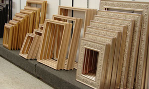 selection of ready made frames in various styles and sizes